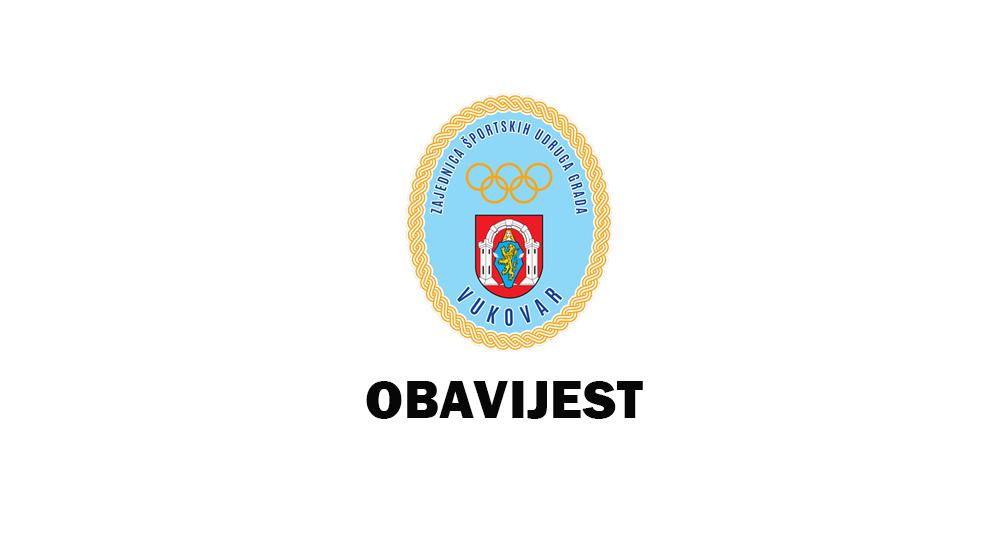 Sportska Hrvatska Javni poziv za sufinanciranje programa javnih potreba u sportu Grada Vukovara za 2022. godinu